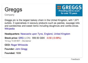 Greggs Knowledge base mix up